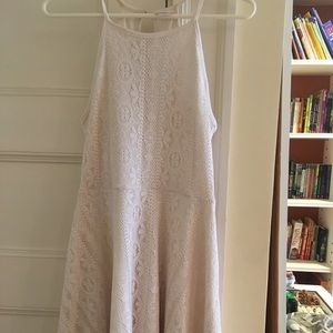 Target Mossimo Co. white lace high neck dress